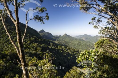 Vista de montanhas do Parque Nacional da Tijuca - Rio de Janeiro - Rio de Janeiro (RJ) - Brasil