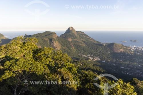 Pedra da Gávea vista à partir da Floresta da Tijuca - Rio de Janeiro - Rio de Janeiro (RJ) - Brasil
