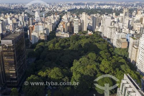 Foto feita com drone do Parque Tenente Siqueira Campos popularmente conhecido como Parque Trianon - São Paulo - São Paulo (SP) - Brasil
