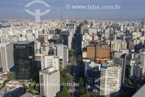 Foto feita com drone da Avenida Paulista - São Paulo - São Paulo (SP) - Brasil