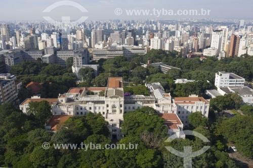 Foto feita com drone da Faculdade de Medicina da Universidade de São Paulo (USP) - São Paulo - São Paulo (SP) - Brasil