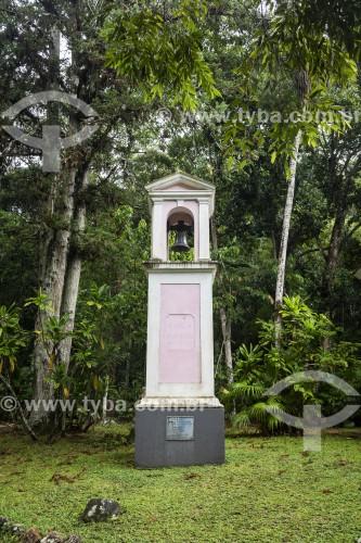 Detalhe do campanário da Capela Mayrink (1855) - Parque Nacional da Tijuca  - Rio de Janeiro - Rio de Janeiro (RJ) - Brasil