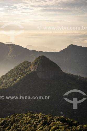 Vista da Pedra do Conde à partir do Pico da Tijuca - Parque Nacional da Tijuca - Rio de Janeiro - Rio de Janeiro (RJ) - Brasil