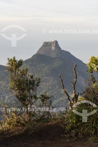 Vista da Pedra da Gávea à partir do Pico da Tijuca - Parque Nacional da Tijuca - Rio de Janeiro - Rio de Janeiro (RJ) - Brasil