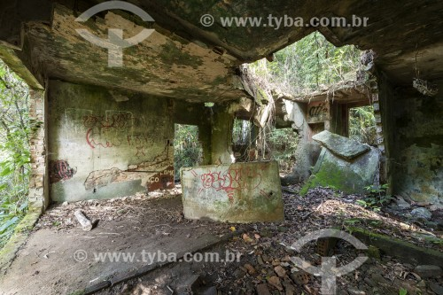 Ruínas de antiga casa no interior da Floresta da Tijuca - Parque Nacional da Tijuca - Rio de Janeiro - Rio de Janeiro (RJ) - Brasil