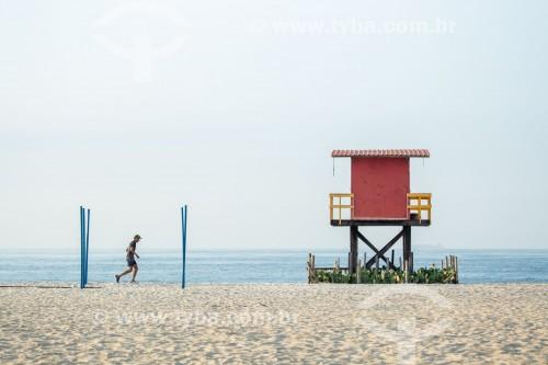 Guarita de salva-vidas na Praia de Copacabana - Rio de Janeiro - Rio de Janeiro (RJ) - Brasil