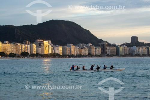 Canoa havaiana na Praia de Copacabana - Rio de Janeiro - Rio de Janeiro (RJ) - Brasil