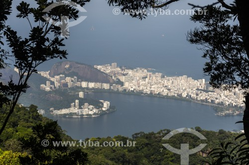 Vista da Lagoa Rodrigo de Freitas a partir do Mirante do Brócolis - Rio de Janeiro - Rio de Janeiro (RJ) - Brasil