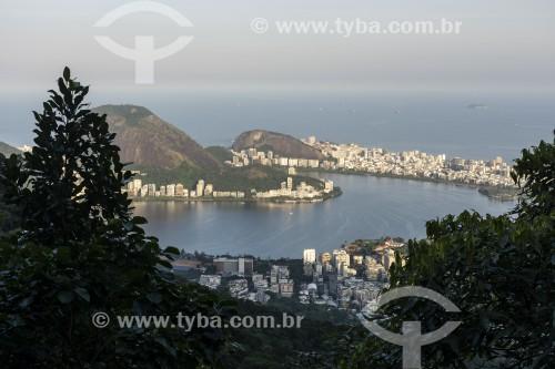Vista da Lagoa Rodrigo de Freitas a partir das Paineiras - Rio de Janeiro - Rio de Janeiro (RJ) - Brasil