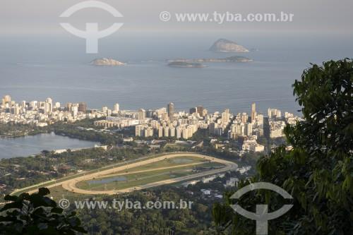 Vista do Hipódromo da Gávea a partir do Parque Nacional da Tijuca - Rio de Janeiro - Rio de Janeiro (RJ) - Brasil