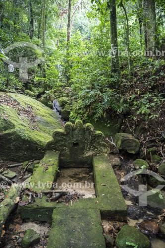 Ruína histórica de captação de água no Parque Nacional da Tijuca - Rio de Janeiro - Rio de Janeiro (RJ) - Brasil