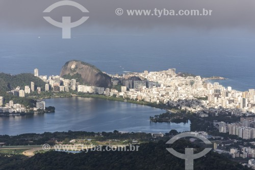 Vista da Lagoa Rodrigo de Freitas a partir da Pedra da Proa - Rio de Janeiro - Rio de Janeiro (RJ) - Brasil