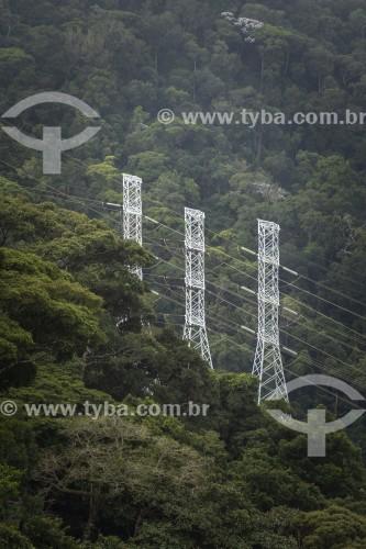 Torres de transmissão de energia elétrica no Parque Nacional da Tijuca - Rio de Janeiro - Rio de Janeiro (RJ) - Brasil
