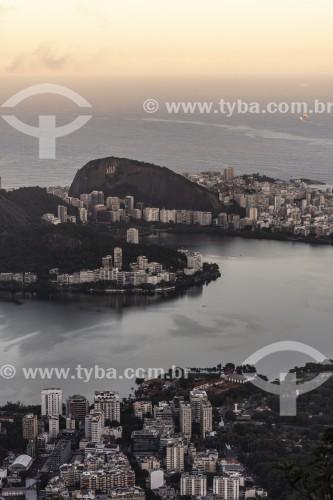 Vista da Lagoa Rodrigo de Freitas a partir do Morro Sete Quedas - Rio de Janeiro - Rio de Janeiro (RJ) - Brasil