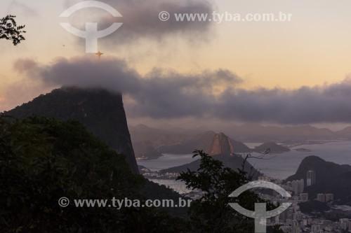 Vista do Cristo Redentor a partir do Morro Sete Quedas - Rio de Janeiro - Rio de Janeiro (RJ) - Brasil