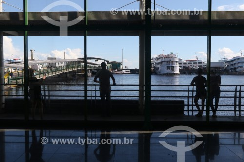 Porto Flutuante de Manaus  durante a maior cheia do Rio Negro desde o início dos registros em 1902 - Manaus - Amazonas (AM) - Brasil