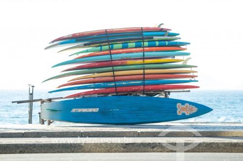 Pranchas de surf no Posto 6 - Rio de Janeiro - Rio de Janeiro (RJ) - Brasil
