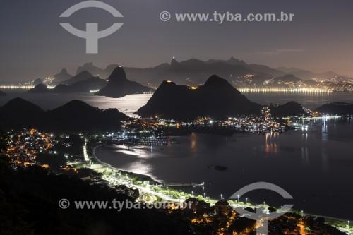 Vista do Rio de Janeiro a partir do Parque da Cidade de Niterói  - Niterói - Rio de Janeiro (RJ) - Brasil
