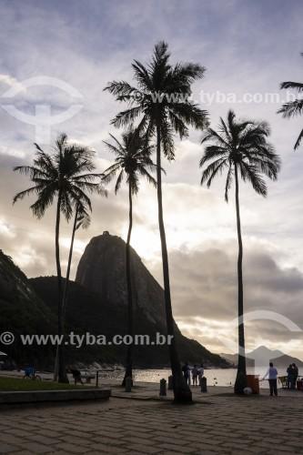 Vista da orla da Praia Vermelha com o Pão de Açúcar ao fundo  - Rio de Janeiro - Rio de Janeiro (RJ) - Brasil