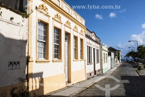 Fachada de casas no centro histórico - São Francisco do Sul - Santa Catarina (SC) - Brasil