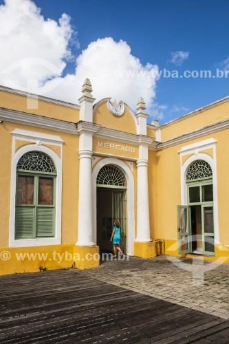 Fachada do Mercado Municipal - São Francisco do Sul - Santa Catarina (SC) - Brasil