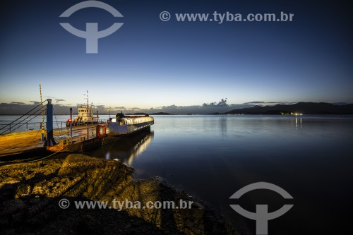 Pôr do sol na Baía da Babitonga - São Francisco do Sul - Santa Catarina (SC) - Brasil