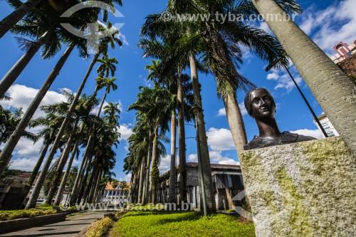 Busto de Dona Francisca na Alameda Brustlein - Joinville - Santa Catarina (SC) - Brasil