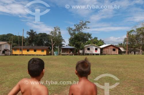 Crianças na Comunidade Santa Helena do Inglês - Iranduba - Amazonas (AM) - Brasil