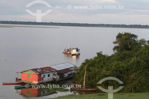 Flutuante no Rio Solimões - Reserva de Desenvolvimento Sustentável Mamirauá - Uarini - Amazonas (AM) - Brasil