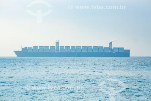 Navio cargueiro visto da Praia de Ipanema - Rio de Janeiro - Rio de Janeiro (RJ) - Brasil