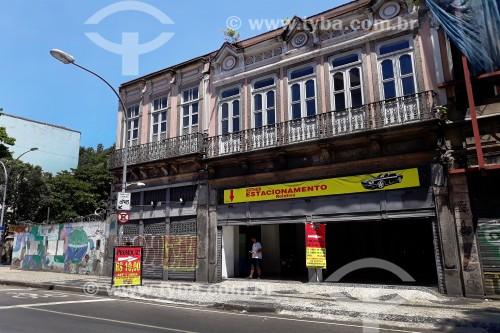 Estacionamento em casario antigo na Rua da Carioca - Rio de Janeiro - Rio de Janeiro (RJ) - Brasil