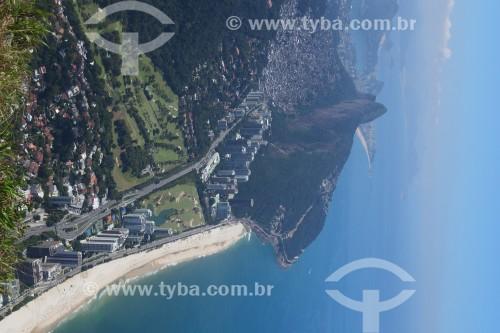 Vista de São Conrado à partir da Garganta do Céu, na trilha da Pedra da Gávea - Rio de Janeiro - Rio de Janeiro (RJ) - Brasil
