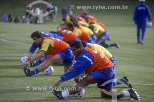 Romário - Jogador de futebol - Treinamento na Granja Comary para a Copa do Mundo de 1998 - Teresópolis - Rio de Janeiro (RJ) - Brasil