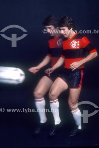 Zico - Jogador de futebol - Anos 80 - Rio de Janeiro - Rio de Janeiro (RJ) - Brasil