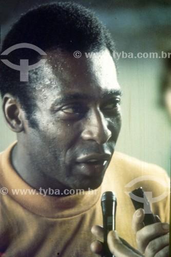 Pelé - Jogador de futebol - Anos 70 - Rio de Janeiro - Rio de Janeiro (RJ) - Brasil