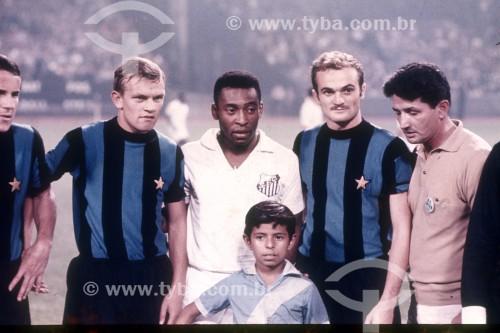 Pelé - Jogador de Futebol - Internazionale de Milão 0x1 Santos - Supercopa dos Campeões Mundiais Interclubes - Milão - Província de Milão - Itália