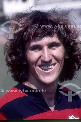 Zico - Jogador de futebol do Clube de Regatas do Flamengo - Anos 70 - Rio de Janeiro - Rio de Janeiro (RJ) - Brasil
