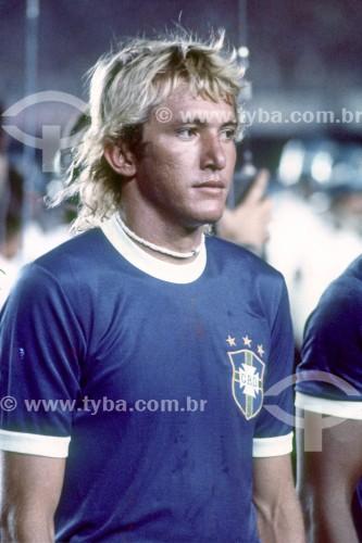 Seleção Brasileira de Futebol - Jogo Brasil 6x0 Colômbia - Eminatórias para a Copa do Mundo de 1978 - Jogador Marinho Chagas - Rio de Janeiro - Rio de Janeiro (RJ) - Brasil