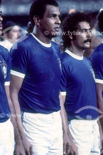 Seleção Brasileira de Futebol - Jogo Brasil 6x0 Colômbia - Eminatórias para a Copa do Mundo de 1978 - Luís Pereira e Rivelino - Rio de Janeiro - Rio de Janeiro (RJ) - Brasil