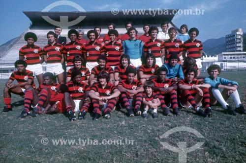 Time do Clube de Regatas do Flamengo - Futebol - Anos 70 - Rio de Janeiro - Rio de Janeiro (RJ) - Brasil