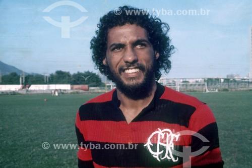 Luisinho Lemos também conhecido como Luisinho Tombo - Jogador de futebol no Clube de Regatas do Flamengo - Anos 70 - Rio de Janeiro - Rio de Janeiro (RJ) - Brasil