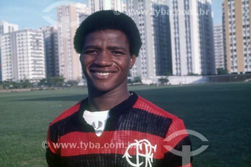 Adílio - Jogador de futebol no Clube de Regatas do Flamengo - Anos 70 - Rio de Janeiro - Rio de Janeiro (RJ) - Brasil