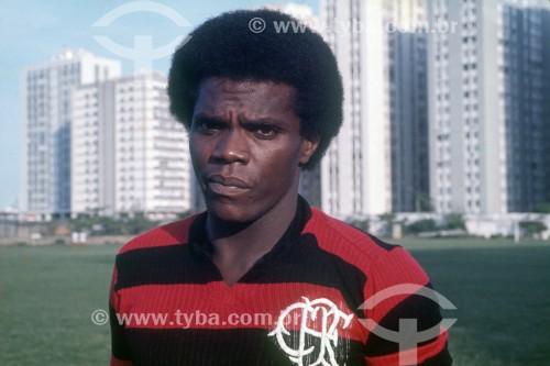 Claudio Adão - Jogador de futebol no Clube de Regatas do Flamengo - Anos 70 - Rio de Janeiro - Rio de Janeiro (RJ) - Brasil