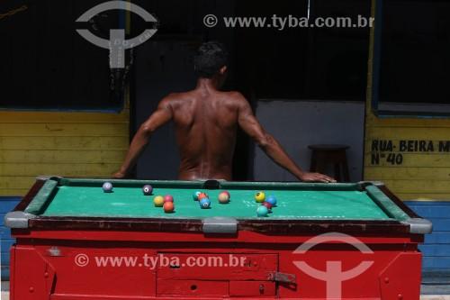 Mesa de sinuca na feira da Panair - Manaus - Amazonas (AM) - Brasil
