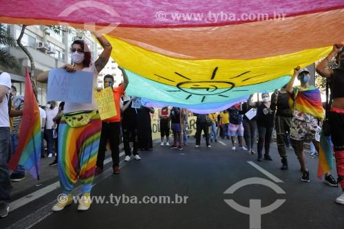 Manifestação contra o Presidente Jair Bolsonaro - São José do Rio Preto - São Paulo (SP) - Brasil