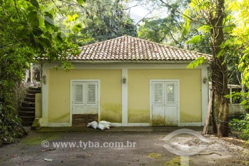 Casa amarela (casarío histórico) na Floresta da Tijuca - Parque Nacional da Tijuca - Rio de Janeiro - Rio de Janeiro (RJ) - Brasil
