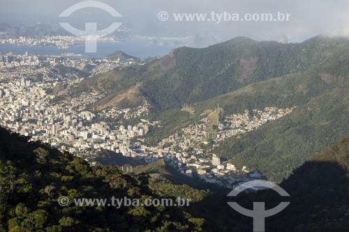 Vista da Tijuca à partir do Pico Tijuca Mirim - Floresta da Tijuca - Parque Nacional da Tijuca - Rio de Janeiro - Rio de Janeiro (RJ) - Brasil