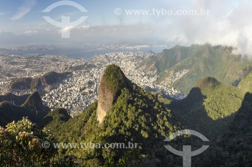 Vista do Rio de Janeiro à partir do Pico Tijuca Mirim - Floresta da Tijuca - Parque Nacional da Tijuca - Rio de Janeiro - Rio de Janeiro (RJ) - Brasil