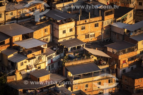 Vista da Favela do Cerro Corá à partir do Mirante Dona Marta - Rio de Janeiro - Rio de Janeiro (RJ) - Brasil
