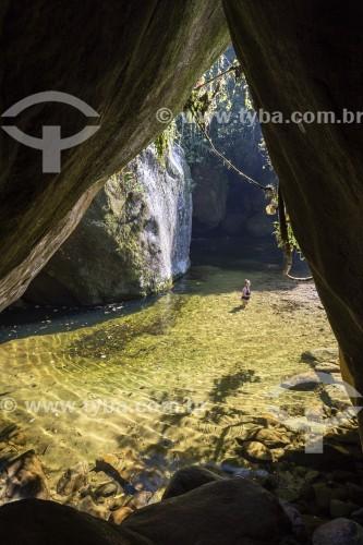 Poço da Verde próximo ao Centro de Visitantes Von Martius do Parque Nacional da Serra dos Órgãos  - Guapimirim - Rio de Janeiro (RJ) - Brasil